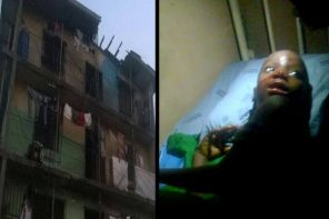 9 year old girl survives after falling from a 3 storey building in Port Harcourt