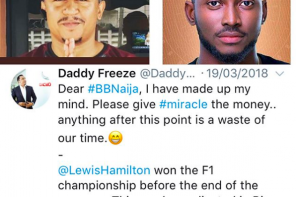 I am a prophet, I predicted Miracle's win from the beginning – Daddy Freeze