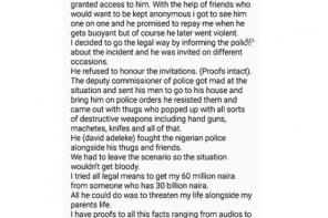 Davido in fresh scandal as man accuses him of trying to kill him over N60m