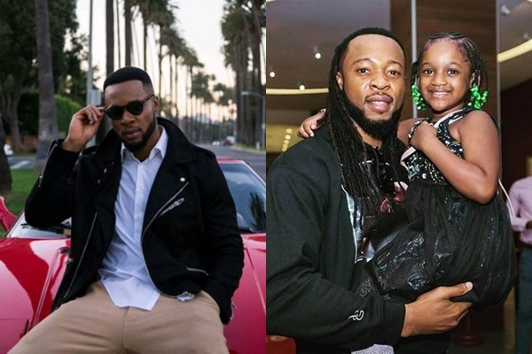 adorable photo of flavour with 2faces younger daughter olivia photo