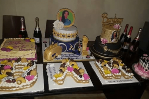 #BBNaija: Bambam sits on Teddy A's mother's laps at the surprise party Teddy threw for her