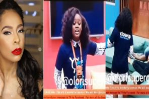 #BBNaija: TBoss Reacts after Cee-c rained insults on Tobi