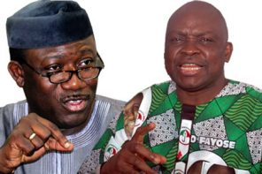 Ekiti Guber: Angry Youths Ripping Off Fayemi's Poster (Video)