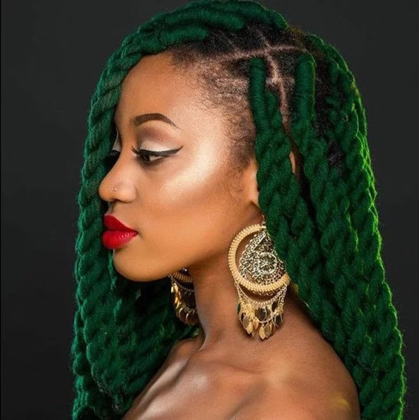 This Is A Very Beautiful And Comfortable Type Of Nigerian Hairstyles With Wool Allowing The Weaving Your Own Hair Plus Some Material