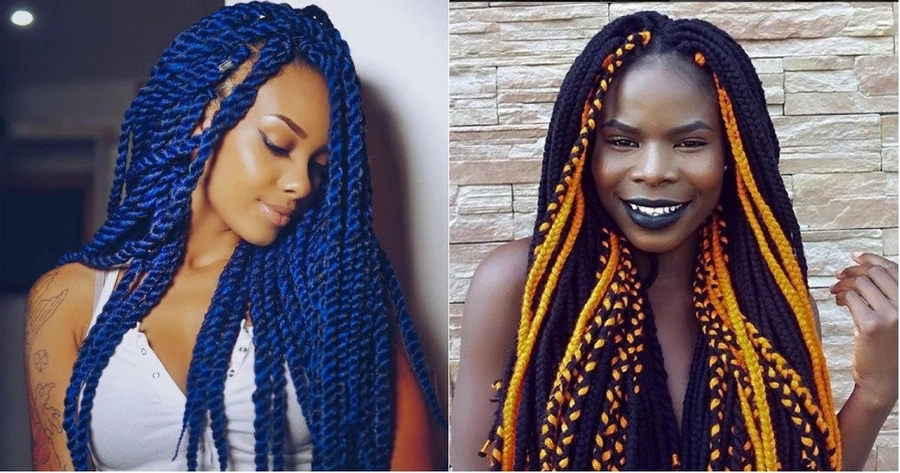 An Original Hairstyle Is Excellent Way Of Self Expression While Some Nigerian Fashionistas Make Unusual Haircuts And Paint Their Hair In Bright Colours