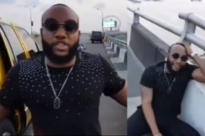 #LazyNigerianYouths: Kcee threatens to jump off 3rd Mainland bridge while reacting to President Buhari's speech