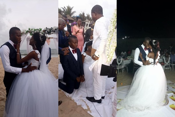 Lovely Photos Of Nigerian Couple Who Held Church Wedding And
