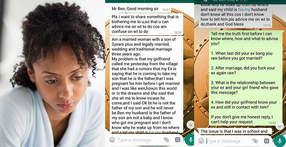 Married woman who slept with her ex-boyfriend while she was 3-months
