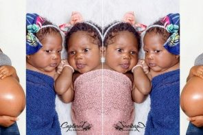 Nigerian lady welcomes a set of twins after 3 years infertility