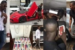 "Popular Ghanaian Yahoo Boy ""Ibrah"" arrested for money laundering (Photos)"
