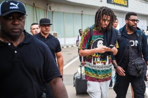 Rapper, J-Cole arrives Nigeria ahead of his performance in Lagos this weekend