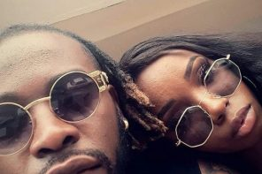 Photo of the day: BBNaija – Bambam  Sits on Teddy A's  mom's leg