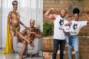 Couple set the internet on fire with their maternity photoshoot (Photos)