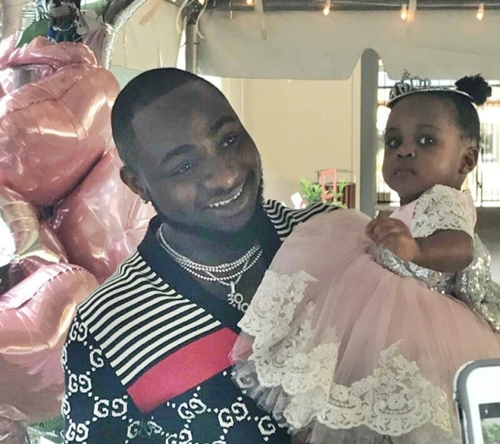 Davido And Daughter During The Birthday