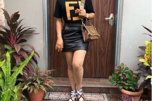 Tonto Dikeh Rocks Mini Skirt To Her Son's School Event (Photos)