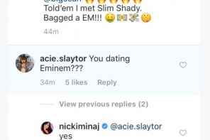 Nicki Minaj confirms relationship with Eminem