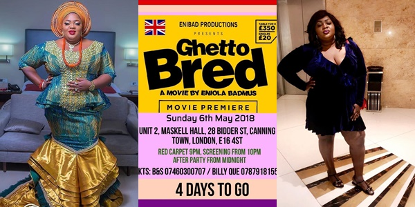 Nollywood Actress, Eniola Badmus Storms London with Her 'Ghetto Bred'