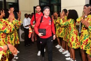 See How Ladies Welcomed Atletico Madrid Players In Uyo (Photos)