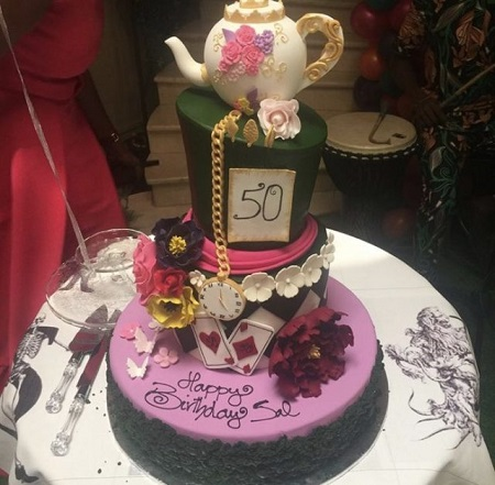 See The Gigantic Cake Femi Gbajabiamilas Wife Used To Celebrate Her
