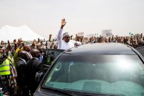 Huge crowd grace Buhari's Bauchi campaign rally