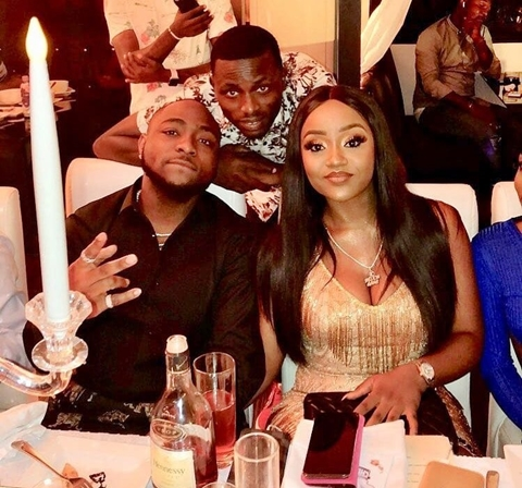 Davido And Chioma During The Dinner Before Car Presentation