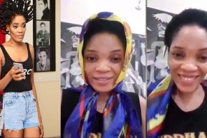 "Nigerian Model ""Chika Lann"" Finally Loose Her N40Million Hair after Nigeria lost to Croatia (Video)"
