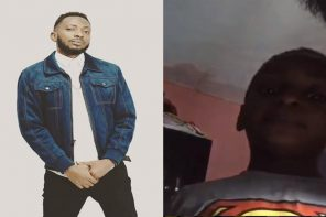 Singer May D shares a video of his babymama asking their son to insult him!