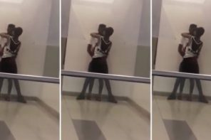 Two Lovers Kiss Passionately At Maryland Mall In Lagos (Video)