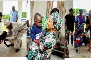 Little Taju meets Oyo state governor and his wife (Photos)