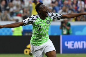 Lib vs Nig: 'The Only Difference Between Ahmed Musa And Messi Is Spelling' – See What Fans Are Saying About This Musa's Goal(Video)