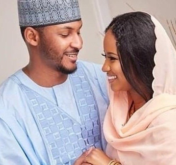 Image result for PICTURE OF HAUWA , DAUGHTER OF INDIMI AND HER HUSBAND