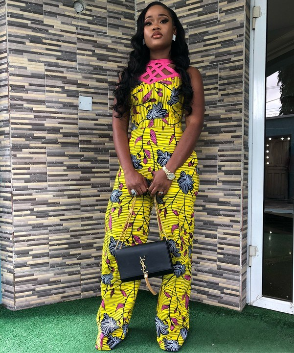 Cee C Slays In Ankara Jumpsuit As Chioma Goes Make Up Free Photos