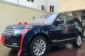 """Everyday is Valentine's day"" – Peter Okoye says as he shows off the new Range Rover he bought for Lola"