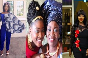 Photos Of Mercy Johnson Following Death Of Mum