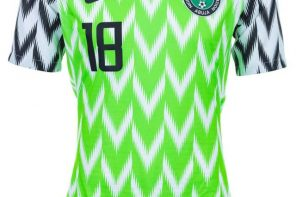 Nigerian Slay Queen turns Super Eagles Jersey Into a Wrap Dress