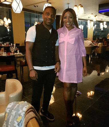 Laura Ikeji and husband celebrate father's day with dinner and shoot (photos)