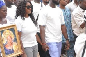 More Photos: Mercy Johnson in tears as she buries her mom