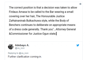 Nigerian Law School approves use of Hijab during Call-to-bar ceremonies