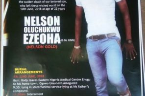 Nollywood Actor Nelson Gold who died at 22 buried amidst tears