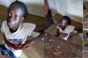 Suspected witch taken to  court after she 'fell from the sky' & landed inside Police Barracks in Delta state (Video)
