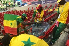 World Cup: Senegal fans clean up stadium after their defeat against Poland
