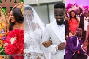 Official wedding photos of Sarkodie and Tracy released