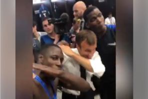 President Macron Dabs With Paul Pogba, Mendy After France World Cup Win (Video)