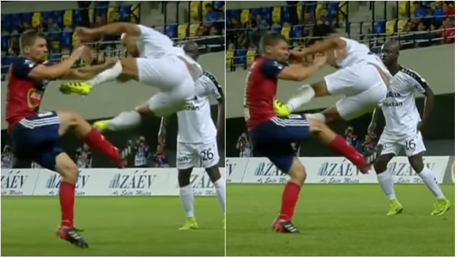 Player Sent Off After Showing One Of Football's Dirtiest Tackle Of All Time