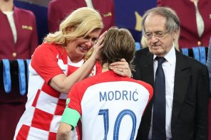 Heartwarming Moment Croatian President Consoled Emotional Modric After World Cup Match