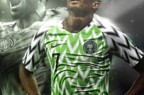 Ahmed Musa reacts after his goal got nominated for world cup goal of the tournament