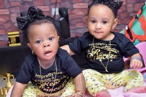 Alaafin of Oyo's Queen Memunat releases 5th month photoshoot of her Twins