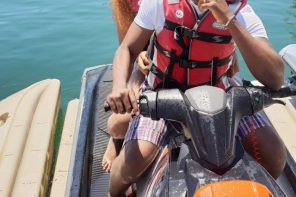 Ebuka Obi-Uchendu And Wife, Cynthia Go Jet Skiing During Vacation In Spain