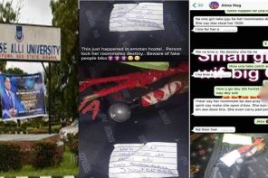 Student ties destiny of roommates over missing money in Edo State (Photos)