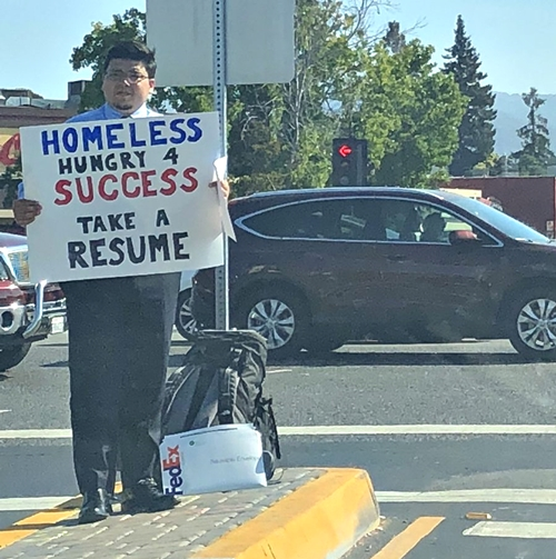 homeless man gets multiple job offers after a photo of him